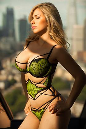Busty blonde London escort